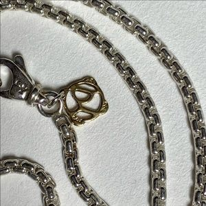 David yurman 2.7mm sterling & 14k gold box chain